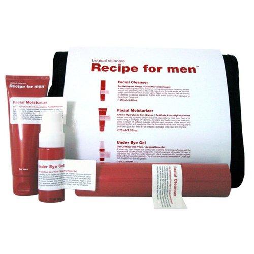 Recipe for Men White Three Way Facial Skincare Gift Bag Set
