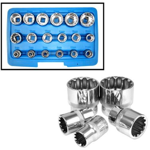 18pc Octa-Metric Socket 3/8