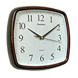 President Quartz Wall Clock 5707 SQUARE Shaped (COLA) and one KIDs watch Free