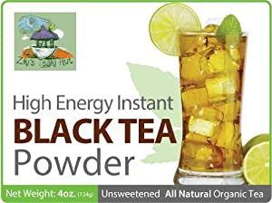 All Natural Organic - High Energy Caffeine Instant Black Tea Powder (Over 100 Servings Per Package) - Buy One Get One Free!