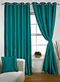 Lushomes Turquoise Twinkle Star Curtain with Blackout Lining for Doors