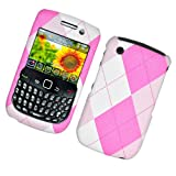 Cell Accessories For Less (TM) BLACKBERRY 8520/8530/9300 CURVE FABRIC CASE PINK ARGYLE 406 - By TheTargetBuys