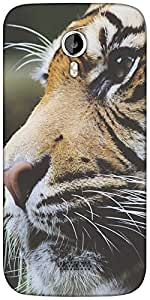 Snoogg Tiger Designer Protective Back Case Cover For Micromax A116