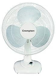 Crompton Greaves High Flo Eva 400mm Table Fan (Ivory)