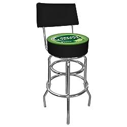 trademark bud light lime padded bar stool with back green. Black Bedroom Furniture Sets. Home Design Ideas