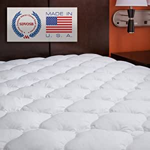 Extra Plush Fitted Mattress Topper - Found in Marriott Hotels - Made in America, Queen Pad