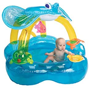 International Playthings iPlay Baby Activity Pool Inflatable Pool w/Sunshade