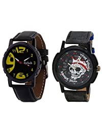 Relish Black Analog Round Casual Wear Watches For Men - B019T7LIFU