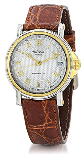 Paul Picot Atelier Automatic Stainless Steel & 18kt Gold Womens Luxury Strap Watch Calendar 5039