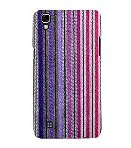 Fantastic Line Pattern 3D Hard Polycarbonate Designer Back Case Cover for LG X Power