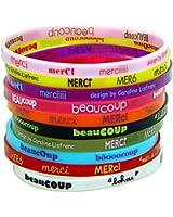 Caroline Lisfranc - Pochette 10 bracelets Merci beaucoup