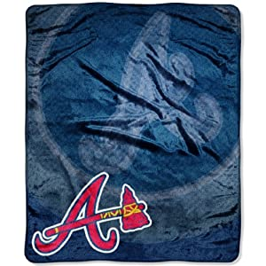 MLB Atlanta Braves Raschel Plush Throw Blanket, Retro Design by Northwest
