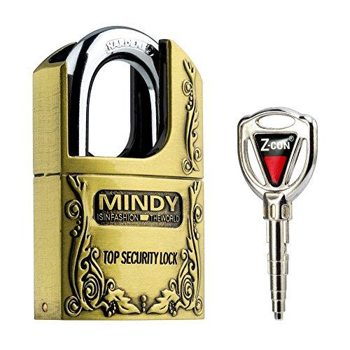 Mindy Locker Lock with keys Zinc Alloy Padlock, 1-Pack, AF4-40 (Toolbox Key Lock compare prices)