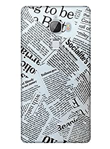 PrintHaat Designer Back Case Cover for LeTv Le Max :: LeEco Le Max (bunch of newspaper :: love newspaper reading :: in black and white)