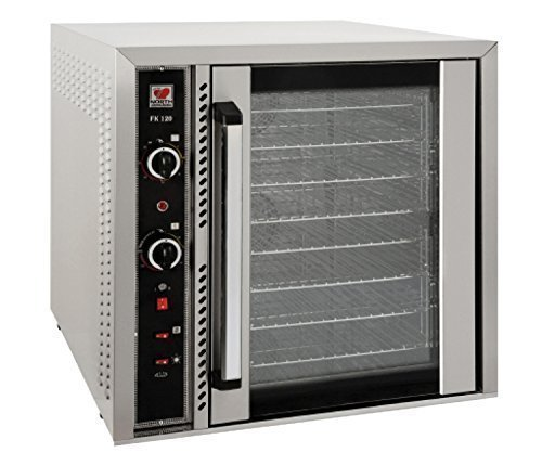 North Pro Gas FK120 Commercial Electric Convection Oven with 8 Shelves for 8 Trays 400x600mm - LxWxH: 765x845x780mm (400V-3N-AC-50Hz) (Made in Greece)