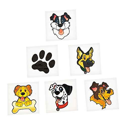 "36 ~ Puppy Dog Temporary Tattoos ~ Approx. 1.25"" ~ New / Individually Packaged"