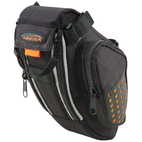 Ibera Bicycle Water Resistant Strap-on SeatPak / Saddle Bag / Seat Bag