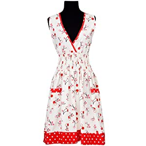 asd Living Loretta Apron with Cherry Soda Design by Butcher Aprons