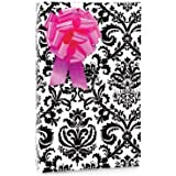 Black & White PAISLEY FLOURISH Gift Wrapping Paper - 16 Foot Roll