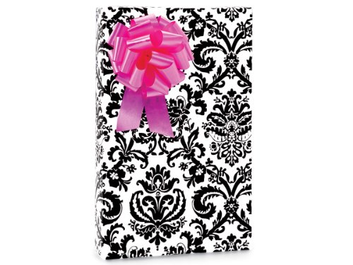 Paisley Flourish Black & White Gift Wrapping Paper - 16 Foot Roll front-301053