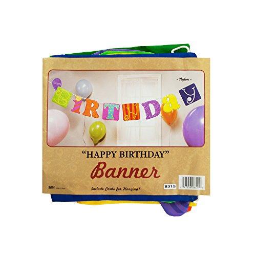 Kole-Imports-KB799-Fabric-Happy-Birthday-Banner