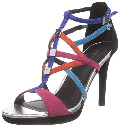 Armani JeansC553316 - Sandali a Punta Aperta Donna , Multicolore (Mehrfarbig (MULTICOLOR WZ)), 36