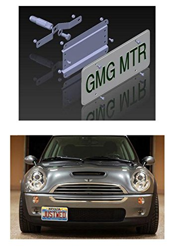MINI Cooper NO HOLES License Plate Bracket (up to 2014 / R Models) - DOES NOT FIT New F55/ F56 Hatch/Hardtop, Countryman or Paceman Models) (Mini Cooper Front License Bracket compare prices)