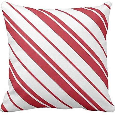 Candy Cane Mint Red and White Striped pillowcase Pillow shams case Cushion Cover 24*24