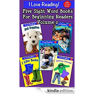 FREE KINDLE BOOK: 5 Sight Word Books For Beginning Readers