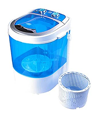 DMR 30-1208 Portable Mini Washing Machine with Dryer Basket (3 kg, Blue)