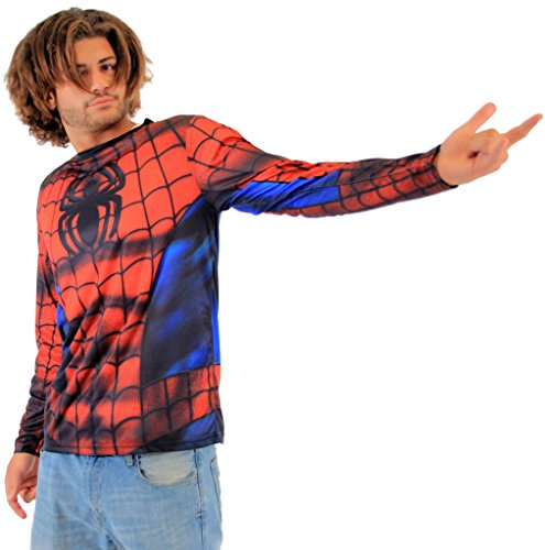 Marvel Spider-Man Sublimated Adult LONG SLEEVE Costume T-Shirt