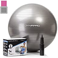 Exercise Ball with Pump, GYM QUALITY Fitness Ball by DynaPro Direct. More colors and sizes available…