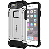 Cubix Impact Hybrid Armor Defender Case For Apple IPhone 6s (Silver)
