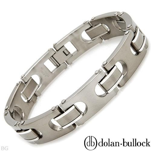 Dolan Bullock Titanium Men's Bracelet. Length 8.5 in. Total Item weight 46.6 g.