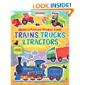 Trains, Truck & Tractors (Usborne Make a Picture Sticker Book)