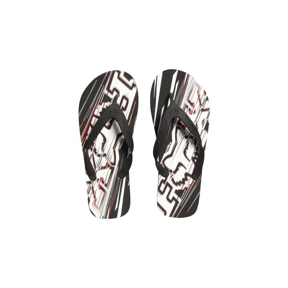 d70ece4dbc45 Fox Racing Showdown Flip Flop Mens Sandal Casual Footwear Color Black