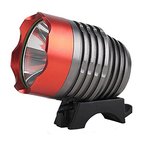 Onedayshop® 4 Modes Super Bright 1800lm- Cree Xm-l T6 LED Bike Bicycle Light Headlight Headlamp with Battery Pack and Charger Complete Set for Camping, Hiking, Outdoor Sports (Black+Red) (Bicycle Battery compare prices)