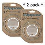 Original Cuppow Regular **2 pack** - Drinking Lid for Regular Mouth Canning Jar
