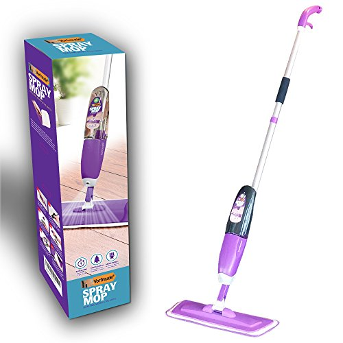 Vorfreude® Floor Spray Mop Lifetime Replacement Cold Steam Cleaner Safe for; Hardwood, Wood, Tile, Laminate, Carpet, and All Floors. Refill and Reuse for Cleaning Hard Grime with Easy Microfibre Pad Wet Wipes