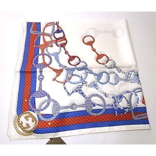 (グッチ) GUCCI CIRCASSIA TWILL シルクスカーフ(ブルー)90cm 271195 3G001 9068 G-5455 [並行輸入品]
