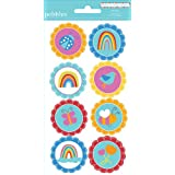 Pebbles Party With Amy Locurto Rainbow Round Stickers