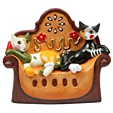 Rosina Wachtmeister Porcelain Cat Figurine Music Box - Infine Il Sonno