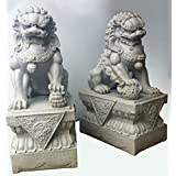 Foo Dogs Statues - Granite Chinese Fu Temple Lions