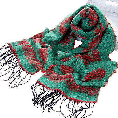 National Style Acrylfaser Grün warme Winter Schal mit Quasten kaufen