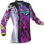 Fly Racing Womens 2012 Kinetic Motocross Jersey Purple/Teal XXL 2XL