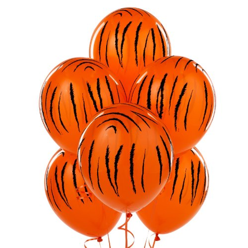Jungle Tiger Stripes Latex Balloons (6)