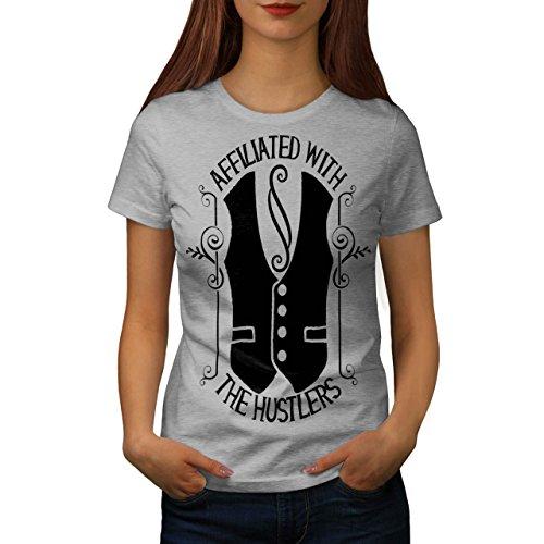 Sono Con Il Hustler Vita Da donna Nuovo Grigio M T-Shirt | Wellcoda