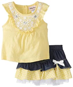 Little Lass Baby-Girls Infant 2 Piece Scooter Set Knit Gauze with Crochet from Little Lass