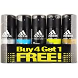 Adidas Deodorant For Men, 150 Ml, Buy 4 Get 1 Free (Pack Of 5)