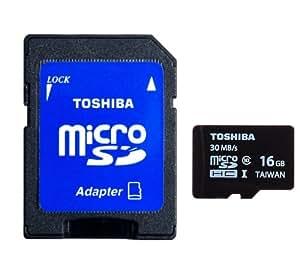 Toshiba 16 Go Carte mémoire MICRO SD UHS-I classe 10 16 Go